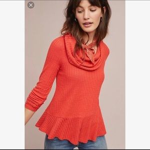 Anthropologie Maeve Winterscape Cowl Neck Sweater